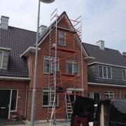Schilderen voorgevel Harderwijk.